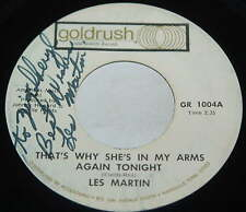 Les Martin 45 That's Why She's In My Arms Again Tonight / Pop A Top    signed