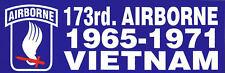 173RD AIRBORNE BRIGADE VIETNAM US ARMY VET PIN UP BUMPER STICKER SKY SOLDIERS