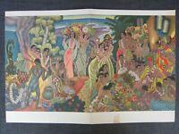 1956 Matson Lines SS Lurline Island Feast Menu Cover by Eugene Savage