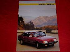 Talbot Solara GL prospetto SX da 1985