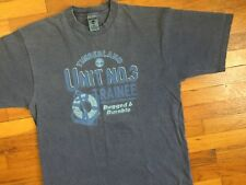 vtg Timberland Boots T-Shirt men's LARGE made in usa Grey Logo Tree no 3 17665