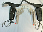 1960 Mattel Lone Ranger Fanner 50 2 Cap Gun Pistols, Plain White Grips, Dbl.Hols