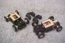 """2 VINTAGE TYCO """"S"""" HO SLOT COMPLETE RUNNING CHASSIS WITH BODY WEIGHTS"""