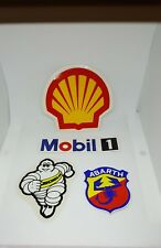lotto adesivi vintage shell mobil 1 abarth michelin corsa pista