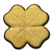 24K GOLD 4 LEAF CLOVER - 1/2 Half Gram of GOLD Leafed 1 Dollar Coin w/ COA