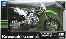 NEWRAY-KAWASAKI kx450f 2012 Monster Energy 1:12 Nouveau/Neuf dans sa boîte moto cross