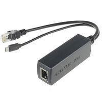 PoE Splitter Power over Ethernet 48V auf 5V 2.4A Micro-USB-Adapter