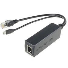 Nice PoE Splitter Power Over Ethernet 48V to 5V 2.4A Micro USB adapter RDR