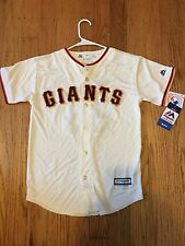 New Authentic Majestic Youth Sz Medium San Francisco Giants Tim Lincecum Jersey