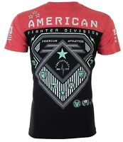 AMERICAN FIGHTER Mens T-Shirt CONCORD TECH Biker ELEPHANT PRINT Gym MMA $40