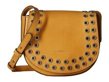 Frye DB413 Cassidy Small Grommet Saddle Crossbody Bag (Yellow)
