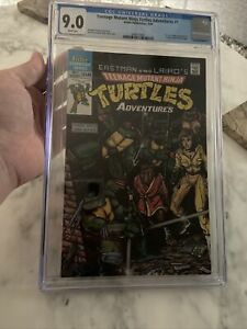 Teenage Mutant Ninja Turtles Adventures #1 (CGC 9.0 NM) White Pages Archie 1988