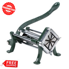 8 Wedge Green Countertop Cast Iron Potato French Fry Cutter / Slicer, Restaurant
