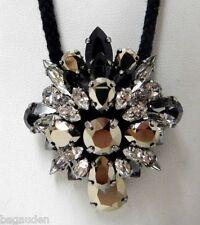 Swarovski by Shourouk Kaki Crystal Pendant Necklace Jewelry - 5019146