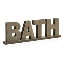 "Rustic Style Old Done Wooden Word Sign ""BATH"" Bathroom/Home Wall/Door Décor Gift"