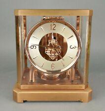 Vtg 1940's Jaeger LeCoultre Swiss Atmos II Rose Gold Bronze Mantle Clock 18118