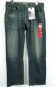 New Signature Levis Mens Modern Relaxed S61 Stretch Fade Denim Jeans 34 x 30