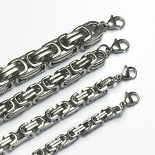 Königskette Halskette Armband Edelstahl silber 5,5 mm 16 - 110 cm