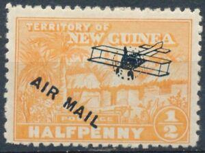 Native Village optd Air Mail: ½d - New Guinea 1931 - Un LH - SG 139