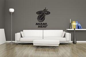 Huge NBA Miami Heat Basketball Vinyl Sticker Decal Wall Art  / Man Cave