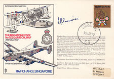 C7cRAF Changi Singapore Signed Gp Capt Livock DFC 1st Officer Commanding 205 Sqn