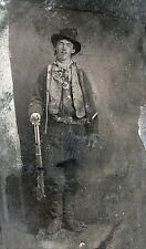 "Billy the Kid, antique, Old West Outlaw Photo, 17""x10"", Rifle, Gun, 1880 photo"