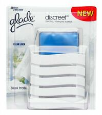 Glade Discreet Electric Complete Plug In Air Freshener and Refill - Clean Linen