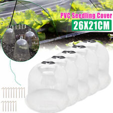 5X Garden Cloche Dome Plants Bell Protector Cover Plastic for Plant Protection
