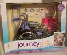 journey girl blue wheelchair & crutch set 18'' doll