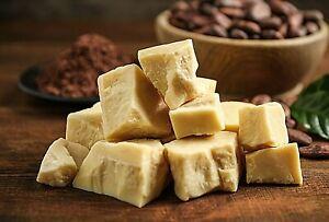 Cocoa Butter ORGANIC Unrefined Cacao Pure Natural raw Food grade Body 25g - 1kg