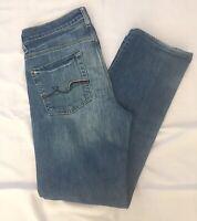 Men's 7 for all Mankind Slimmy Medium Wash Stretch Denim Jeans 30x28