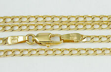 """16-24"""" 1.15mm 10k Squared Link Chain Necklace, (NEW solid Italian necklace) 2415"""