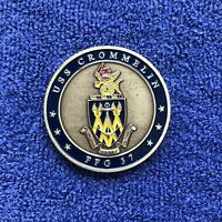 USN US Navy USS CROMMELIN FFG 37 Guided Missile Frigate Ship Challenge Coin