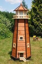 Riesiger XXL Leuchtturm mit Solar Beleuchtung 1,40m braun, LED, Gartendeko