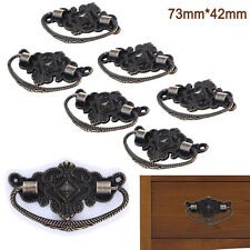 6X Antique Brass Door Knobs Drawer Cabinet Furniture Dresser Vintage Pull Handle