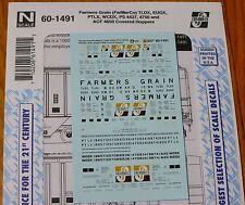 Microscale Decal N #60-1491 Farmers Grain (FarMarCo)  TLDX, EUGX, PTLX, WCDX PS
