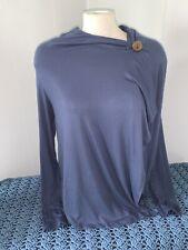 Bobeau Size medium blue long sleeve wrap top