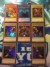 YU-GI-OH dèi Carte + Exodia Set Slifer, Obelisk, Ra, ur 1. Aufl + BERLINA edizione de