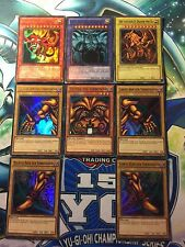 Yu-Gi-OH CARTE DIO+ EXODIA SET SLIFER, OBELISK, RA ,UR 1. Ed.+LIM.AUFLAGE