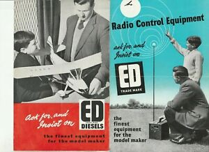 Vintage ED Radio control and model equipment brochures price list 1958