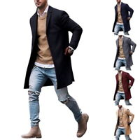 Men's Winter Jacket Wool Coat Trench Coat Outwear Overcoat Long Sleeve Jacket