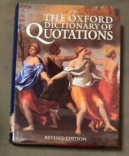 The Oxford Dictionary of Quotations (hardback)