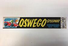 Vintage Impko OSWEGO SPEEDWAY New York Bumper Sticker