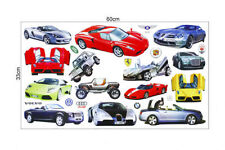 SPORT FLASHY RACING CARS WALL STICKER DECAL CHILDREN/NURSERY/KIDS/BOYS ROOM
