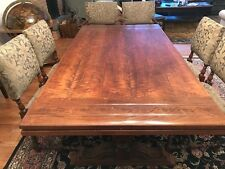 1900's Connecticut Farmhouse Dining Room Set Restored- 9 Pieces Buffet, Hutch