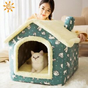 Soft Portable Sleeping Dog House Indoor Outdoor Puppy Kennel Travel Nest Tent