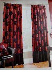 * GORGEOUS PAIR OF  MONTGOMERY FLORAL DESIGN FULLY LINED CURTAINS