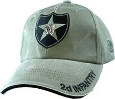 US ARMY 2ND INFANTRY - U.S. Army OD Green Military Baseball Cap Hat