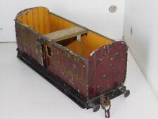 MÄRKLIN à RESTAURER vintage WAGON VOYAGEUR 2872 LUGGAGE ancien TRAIN tin TOY