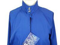 Sears Roebuck Barracuda Jacket Mens Medium Blue Pockets Zip Up Lined New Tags